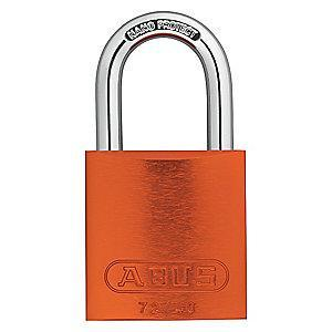 Abus Orange Lockout Padlock, Different Key Type, Master Keyed: Yes, Aluminum Body Material
