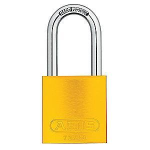 Abus Yellow Lockout Padlock, Different Key Type, Master Keyed: No, Aluminum Body Material