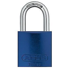 Abus Blue Lockout Padlock, Different Key Type, Master Keyed: Yes, Aluminum Body Material