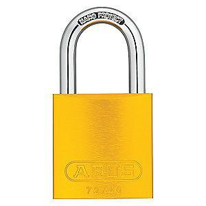 Abus Yellow Lockout Padlock, Different Key Type, Master Keyed: Yes, Aluminum Body Material