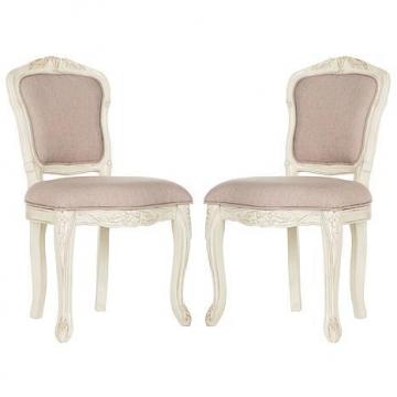 Safavieh Burgess French Brasserie Upholstered Side Chair - Set of 2