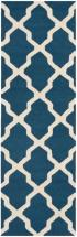 Safavieh Cambridge Navy Blue / Ivory 2 Feet. 6-inch X 6 Feet. Runner