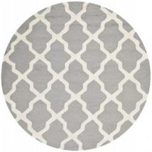 Safavieh Cambridge Silver / Ivory 6 Feet. X 6 Feet. Round Area Rug