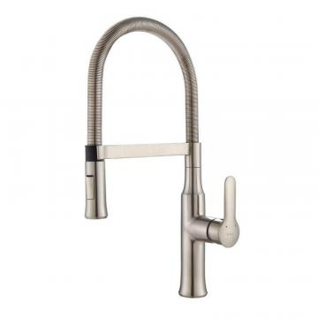 Kraus NolaSingle Lever Flex Commercial Style Kitchen Faucet Stainless Steel