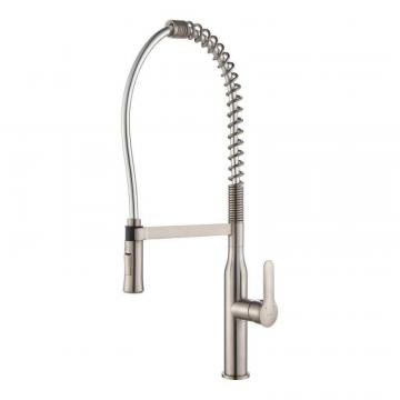 Kraus NolaSingle Lever Commercial Style Kitchen Faucet Stainless Steel