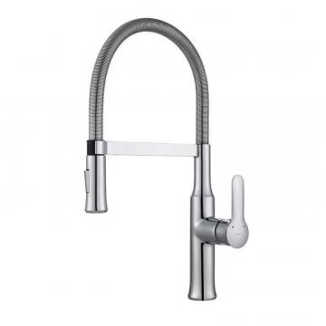 Kraus NolaSingle Lever Flex Commercial Style Kitchen Faucet Chrome