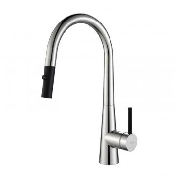 Kraus CrespoSingle Lever Pull Down Kitchen Faucet Chrome