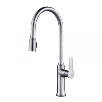 Kraus NolaSingle Lever Concealed Pull Down Kitchen Faucet Chrome