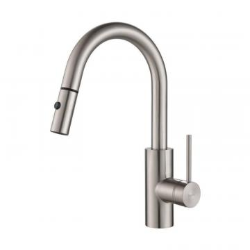 Kraus MateoSingle Lever Pull Down Kitchen Faucet Stainless Steel