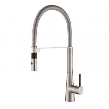 Kraus CrespoSingle Lever Commercial Style Kitchen Faucet W/ Flex Hose Stainless Steel