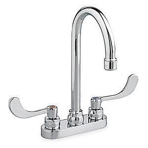 American Standard Cast Brass Monterrey Bathroom Faucet, Wrist Blade Handle Type
