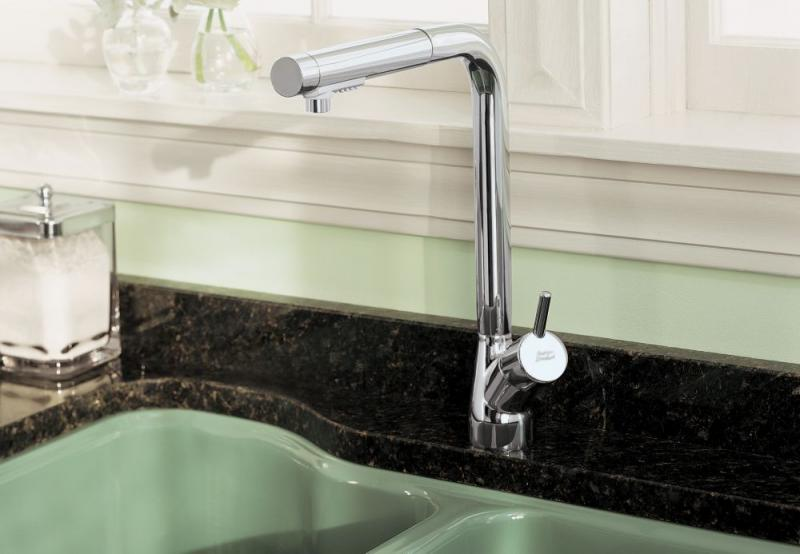 American Standard Avignon 1 Handle Kitchen Faucet, Chrome