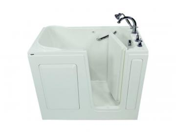 "American Standard 48"" x 30"" x 50"" Gelcoat Soaking Right-Hand Drain Walk-In Bathtub"