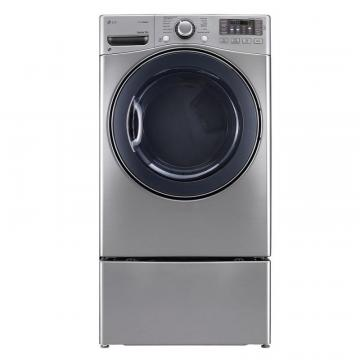 LG 7.4 cu. ft. Ultra-Large Capacity Electric Dryer with TrueSteam Technology in Graphite Steel