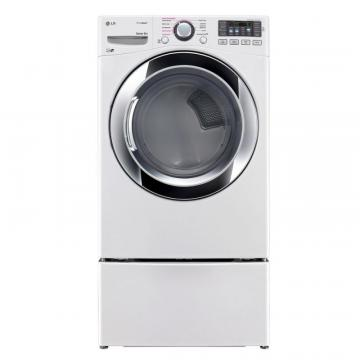 LG 7.4 cu.ft. Ultra-Large Capacity Electric Dryer with TrueSteam Technology in White