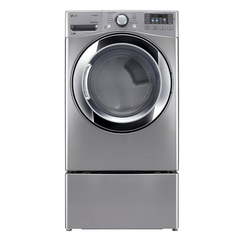LG 7.4 cu. ft. Ultra-Large Capacity Electric Dryer with TrueSteam Technology in Stainless