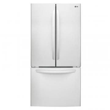 LG 24 cu. ft. French Door Refrigerator in White