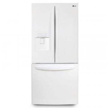 LG 22 cu. ft. French Door Refrigerator with External Water Dispenser in White