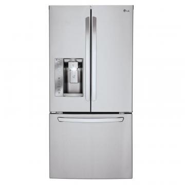 LG 24.2 cu. ft. French Door Refrigerator in Stainless Steel with Ice and Water Dispenser