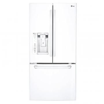 LG 24.2 cu. ft. French Door Refrigerator with Ice and Water Dispenser in White