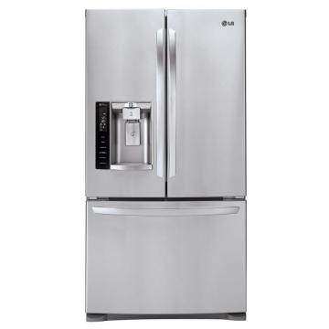 LG 28 cu. ft. French Door Refrigerator with Slim SpacePlus Ice System in Stainless Steel