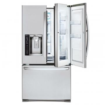 LG 27 cu. ft. Door-in-Door French Door Refrigerator with Slim SpacePlus Ice System
