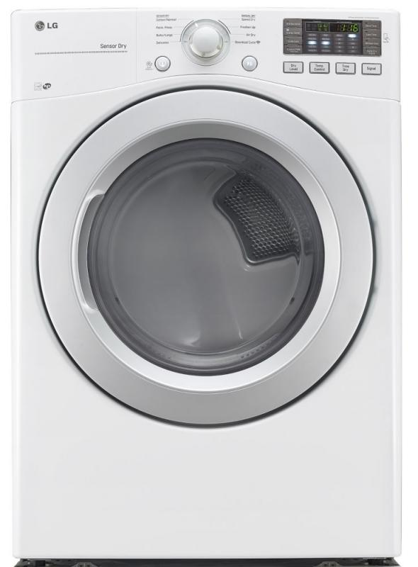 LG 7.4 cu. ft. Ultra-Large Capacity Gas Dryer with Sensor Dry in White