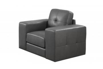 Monarch Chair - Charcoal Grey Bonded Leather