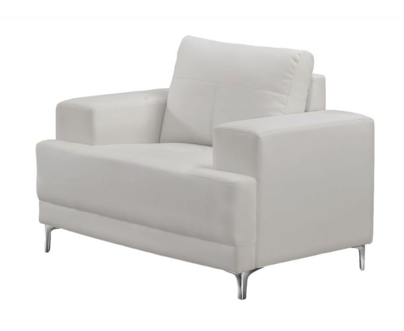 Monarch Chair - Ivory Bonded Leather