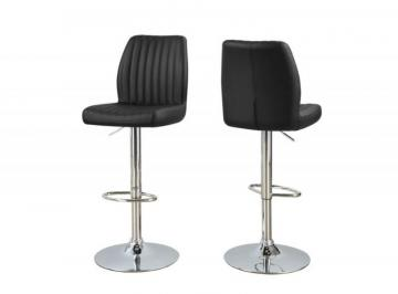 Monarch Barstool - 2PCS / Black/ Chrome Metal  Hydraulic  Lift