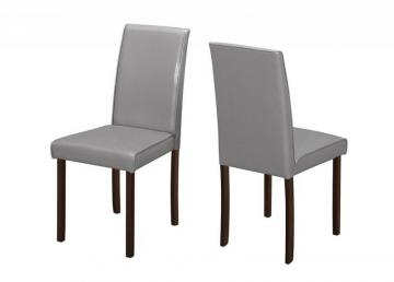 Monarch Dining Chair - 2Pcs / 36 Inch H Grey Leather-Look