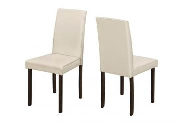 Monarch Dining Chair - 2Pcs / 36 Inch H Ivory Leather-Look