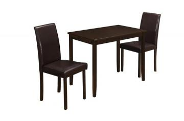 Monarch Dining Set - 3Pcs Set / Cappuccino / Brown Parson Chairs