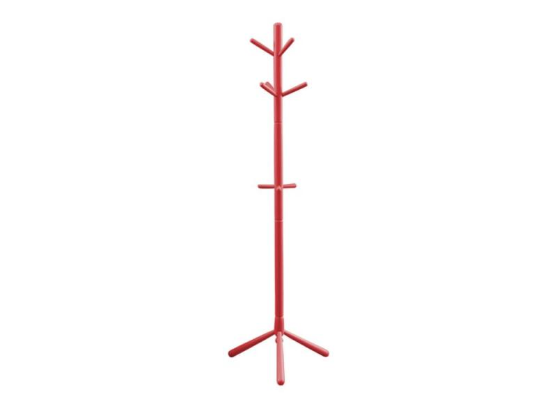 Monarch Coat Rack - 69 Inch H / Red Wood Contemporary Style
