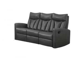 Monarch Reclining - Grey Bonded Leather Sofa