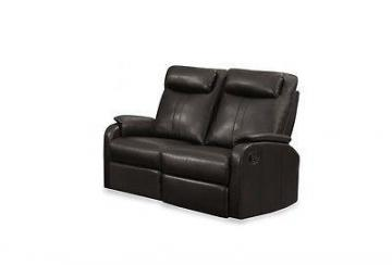 Monarch Reclining - Brown  Bonded Leather Love Seat