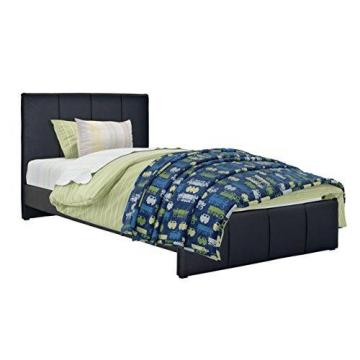 Corliving Fairfield Black Bonded Leather Twin/Single Bed