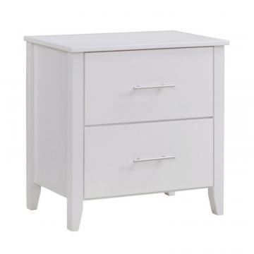 Corliving Ashland Nightstand In Snow White