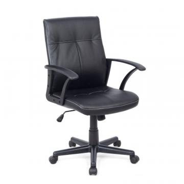 Corliving Workspace Black Leatherette Office Desk Chair