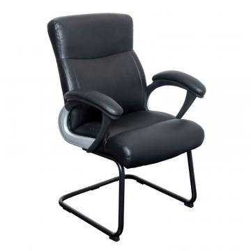 Corliving Workspace Black Leatherette Office Guest Chair