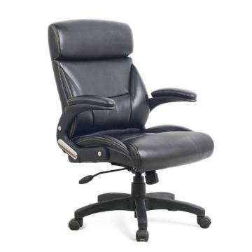 Corliving Workspace Black Leatherette Managerial Office Chair