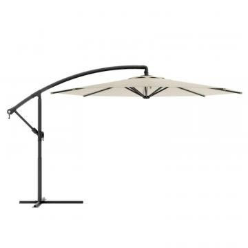Corliving Offset Patio Umbrella in Warm White