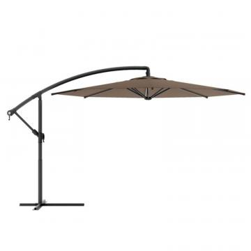 Corliving Offset Patio Umbrella in Sandy Brown