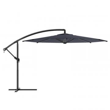Corliving Offset Patio Umbrella in Black