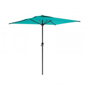 Corliving Square Patio Umbrella in Turquoise Blue