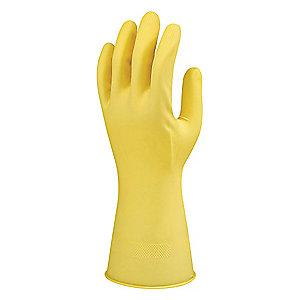 Ansell Gloves, Flock Lining, Yellow
