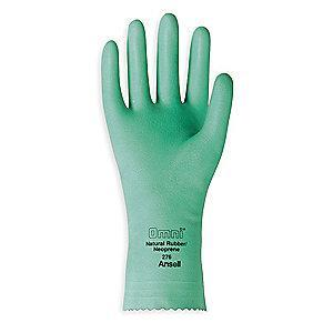 Ansell Chemical Resistant Gloves, Flock Lining, Green