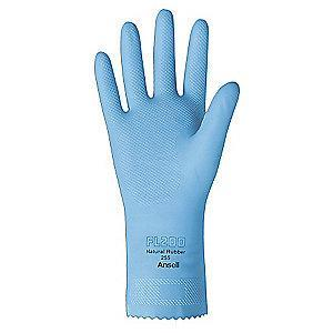 Ansell Chemical Resistant Gloves, Flock Lining, Sky Blue