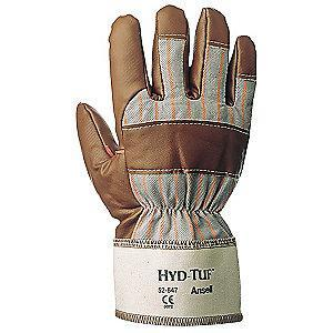 Ansell Smooth Nitrile Coated Gloves, Glove Size: 9, Brown