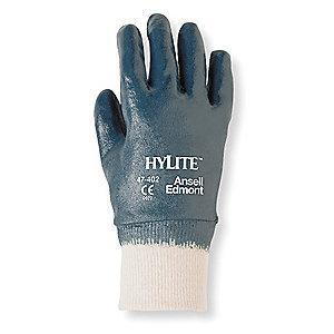 Ansell Sandy Nitrile Coated Gloves, Glove Size: M, Blue/White